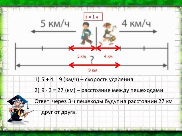 Решение задачи на скорость 3 класс решение задач по физике лукашик гдз