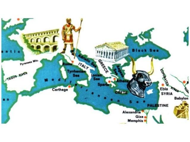 Στα παράλια και στα νησιά της διαμορφώθηκαν διάφοροι πολιτισμοί, πολλοί από τους οποίους σημείωσαν μεγάλη ακμή, όπως ο αιγ...