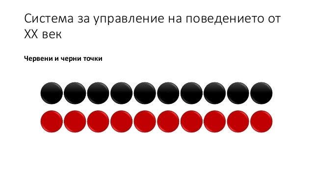 Система за управление на поведението от ХХ век Червени и черни точки