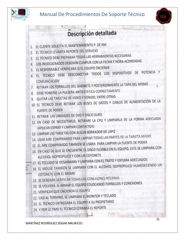 Manual de procedimientos mauricio