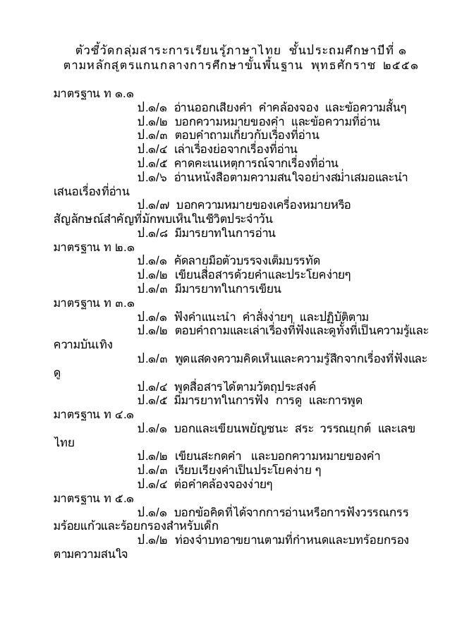 ชุดที่ ๑ แบบทดสอบการเขียนกลุ่มสาระการเรียนรู้ ภาษาไทย ชั้นประถม ...
