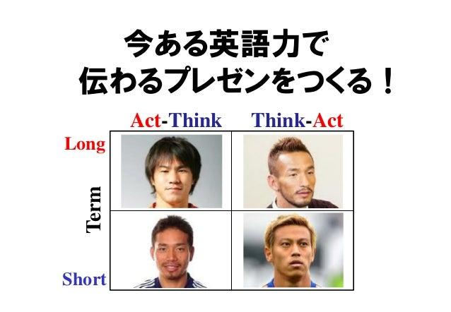 今ある英語力で 伝わるプレゼンをつくる! Act-Think Think-Act Short Long Term