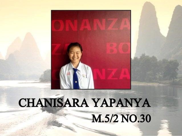 CHANISARA YAPANYA M.5/2NO.30