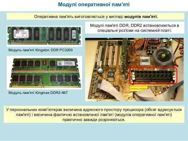 оперативная память Slide 3