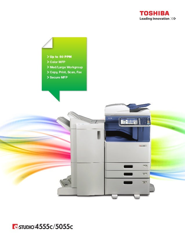 Up to 50 PPM Color MFP Med/Large Workgroup Copy, Print, Scan, Fax Secure MFP