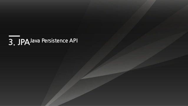 3. JPAJava Persistence API