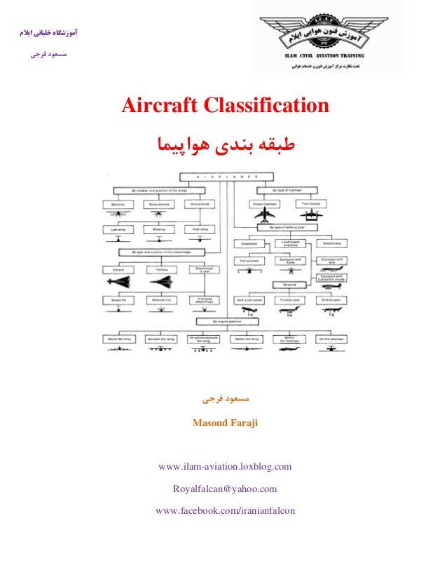 ایالم خلبانی آموزشگاه فرجی مسعود Aircraft Classification هواپیما بندی طبقه فرجی مسعود Masoud Faraji ww...