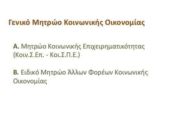 Στήριξη Γυναικείων Επιχειρήσεων από ΕΕΓενικό Μητρώο Κοινωνικής Οικονομίας Α. Μητρώο Κοινωνικής Επιχειρηματικότητας (Κοιν.Σ...