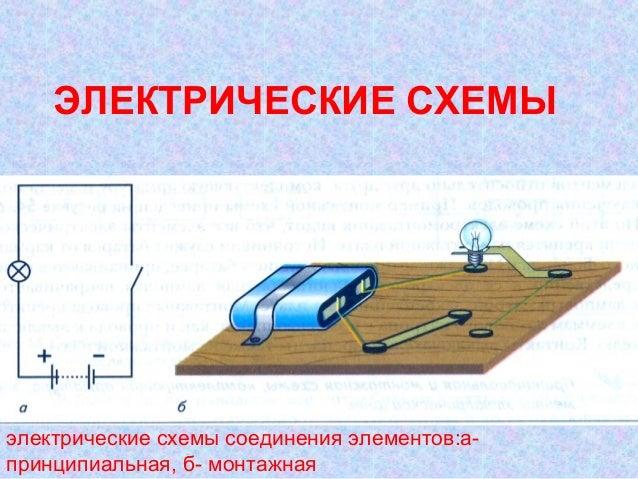 Принципиальные и монтажные электрические схемы технология 8 класс.