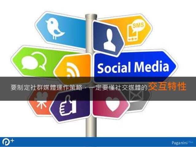 要制定社群媒體運作策略,一定要懂社交媒體的交互特性  Paganini Plus