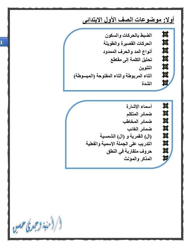 كراسة الأساليب والتراكيب فى اللغة العربية للصفوف الأولى من المرحلة الابتدائية Slide 2