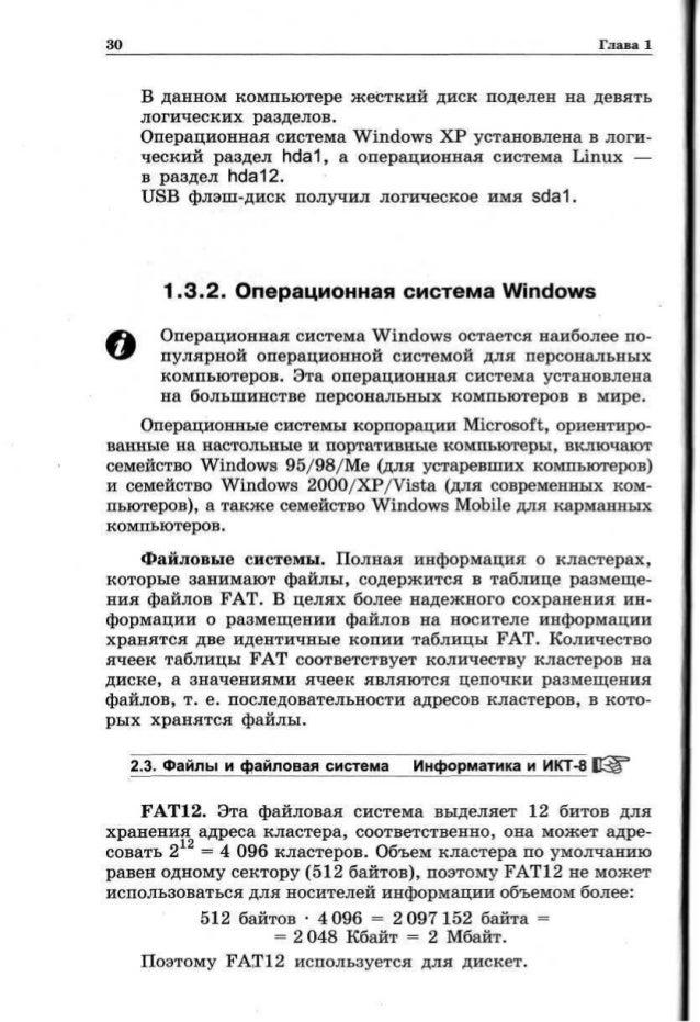 11 Класс Угринович Учебник