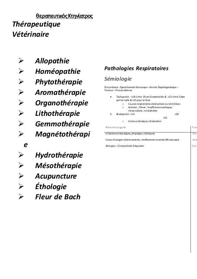 θεραπευτικός Κτηνίατρος  Thérapeutique  Vétérinaire   Allopathie   Homéopathie   Phytothérapie   Aromathérapie   Orga...