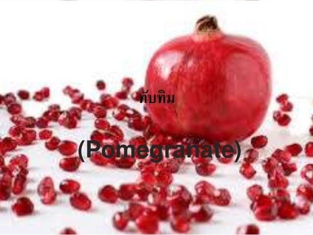 ทับทิม  (Pomegranate)