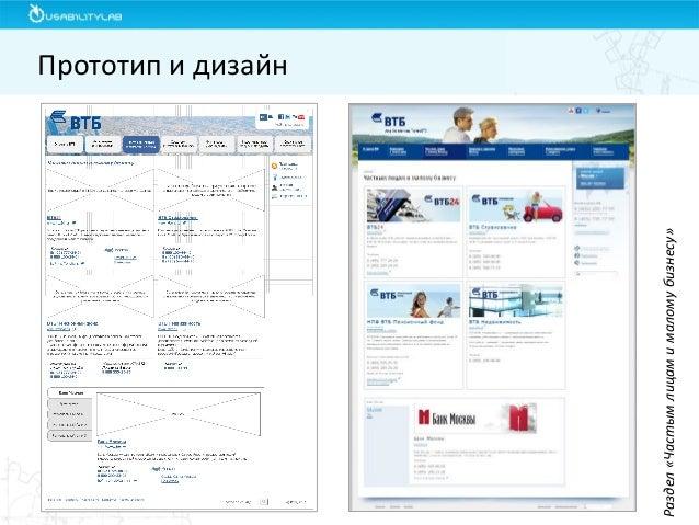 Прототип и дизайн  Раздел «Частым лицам и малому бизнесу»