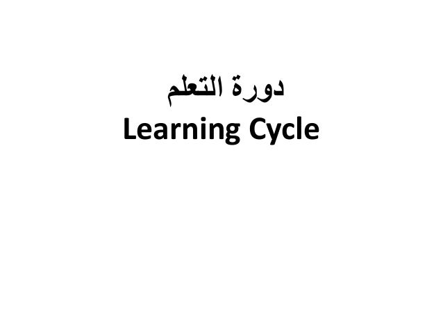دورة التعلم  Learning Cycle
