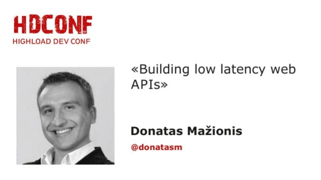 This talk is not a hardcore latency talk  I will not talk about:  •CPU caches  •System.nanoTime  •lockless concurrent queu...