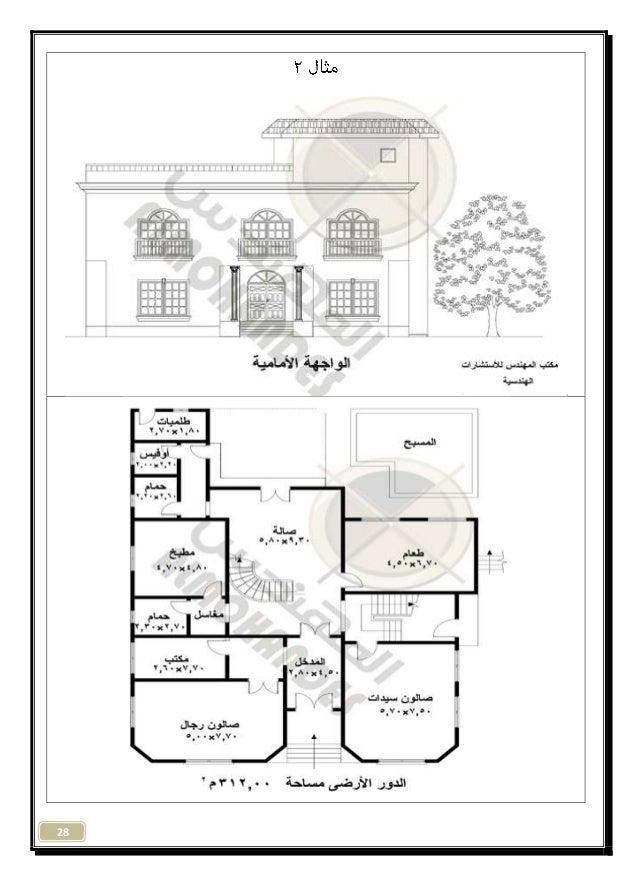 مشروع فلة سكنية تصميم معماري 1