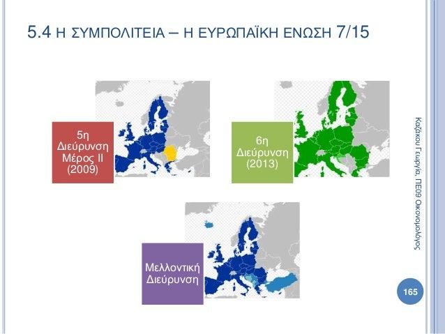 5.4 Η ΣΥΜΠΟΛΙΤΕΙΑ – Η ΕΥΡΩΠΑΪΚΗ ΕΝΩΣΗ 7/15 5η Διεύρυνση Μέρος ΙΙ (2009) 6η Διεύρυνση (2013) Μελλοντική Διεύρυνση ΚαζάκουΓε...