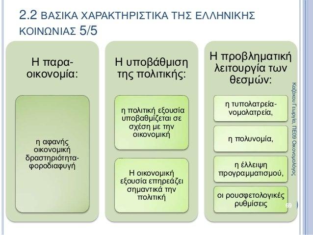 Η παρα- οικονομία: η αφανής οικονομική δραστηριότητα- φοροδιαφυγή Η υποβάθμιση της πολιτικής: η πολιτική εξουσία υποβαθμίζ...