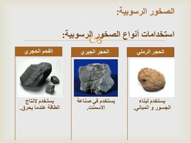 انواع المعادن واستخداماتها