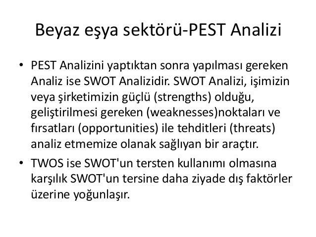 Arcelik pest analysis