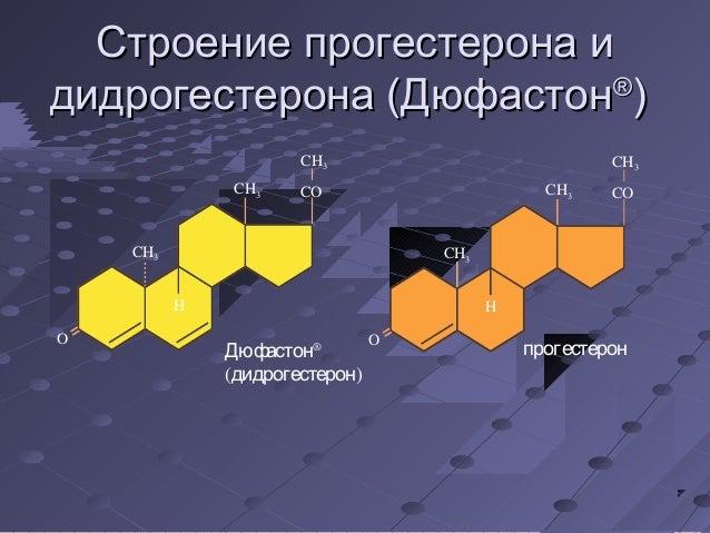 ССттррооееннииее ппррооггеессттееррооннаа ии  ддииддррооггеессттееррооннаа ((ДДююффаассттоонн®))  CH3  CH CO 3  CH3  O  H ...