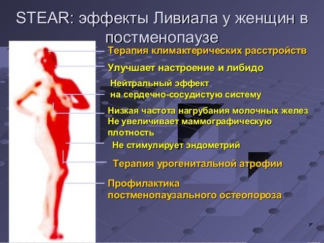 SSTTEEAARR:: ээффффееккттыы ЛЛииввииааллаа уу жжееннщщиинн вв  ппооссттммееннооппааууззее  ТТееррааппиияя ккллииммааккттее...