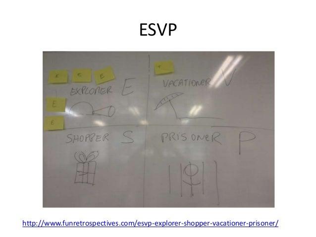 ESVP  http://www.funretrospectives.com/esvp-explorer-shopper-vacationer-prisoner/
