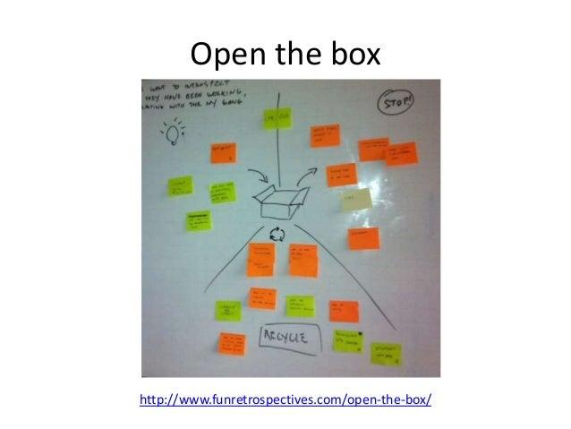 Open the box  http://www.funretrospectives.com/open-the-box/