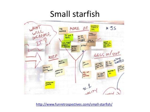 Small starfish  http://www.funretrospectives.com/small-starfish/