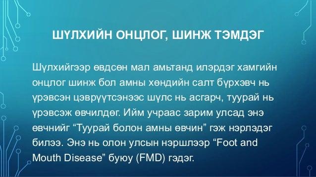 шүлхий өвчин зурган илэрцүүд
