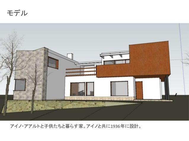 モデル  アイノ・アアルトと子供たちと暮らす家。アイノと共に1936年に設計。