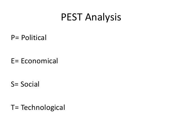 PEST Analysis  P= Political  E= Economical  S= Social  T= Technological