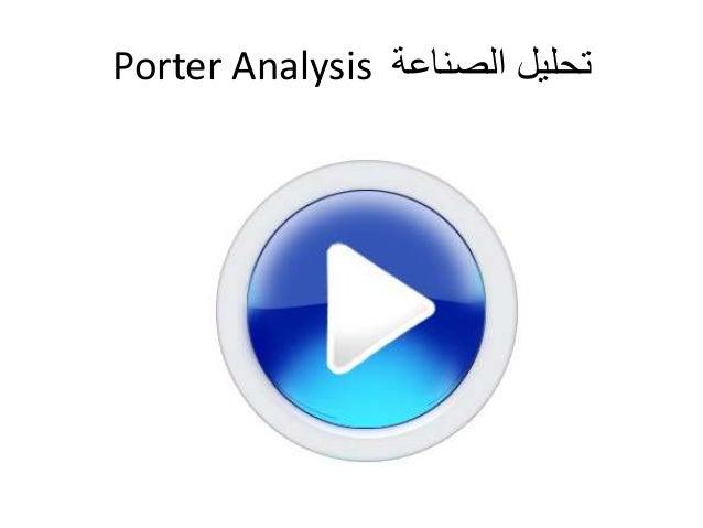 Porter Analysis تحليل الصناعة