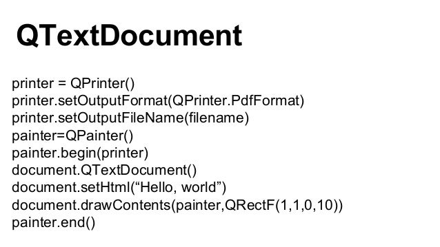 plaintext Plain text HTML HyperText Markup Language ODF OpenDocument Format QTextDocumentWriter