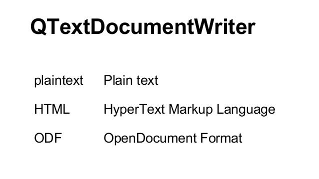 Since the capabilities of the supported output formats vary considerably, the writer simply outputs the appropriate subset...