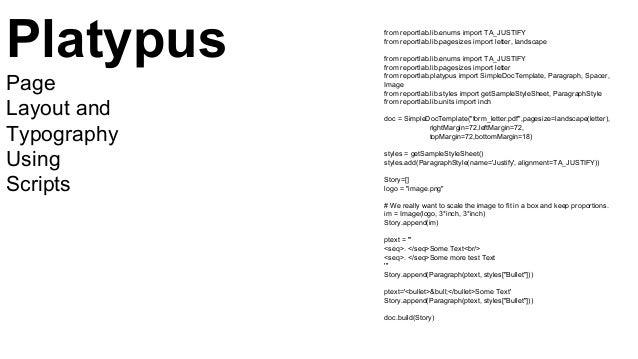 from reportlab.lib.enums import TA_JUSTIFY from reportlab.lib.pagesizes import letter, landscape from reportlab.lib.enums ...