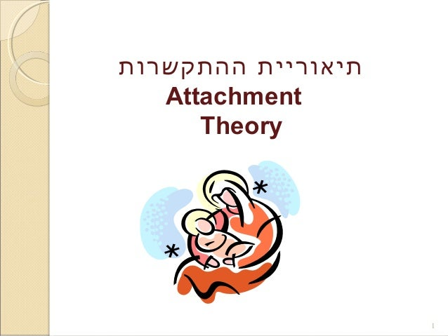 תיאוריית ההתקשרות  Attachment  Theory  1