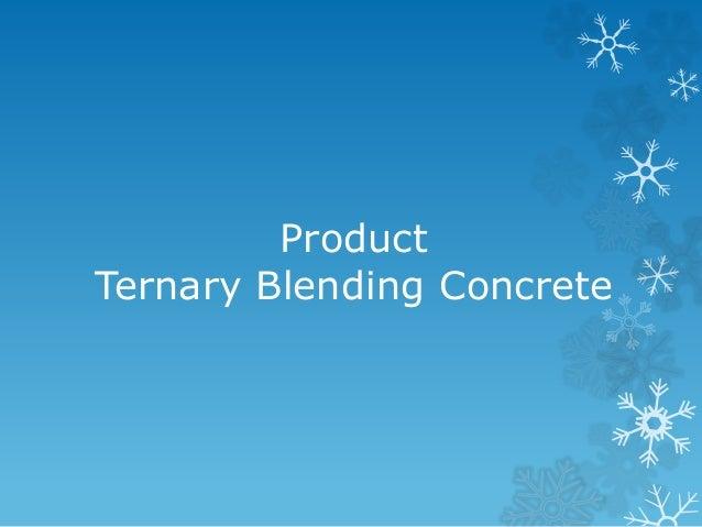 Concrete, Ternary Blending Concrete IDM8 - 웹
