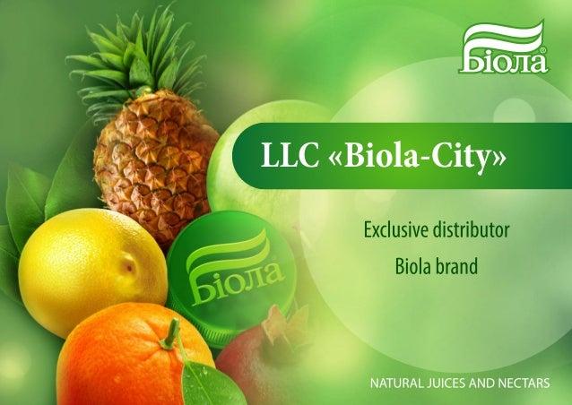 """Презентация компании на английском языке """"BIOLA"""""""