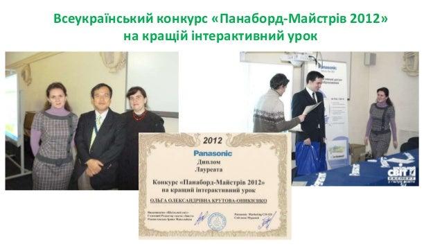 Всеукраїнський конкурс «Панаборд-Майстрів 2012» на кращій інтерактивний урок