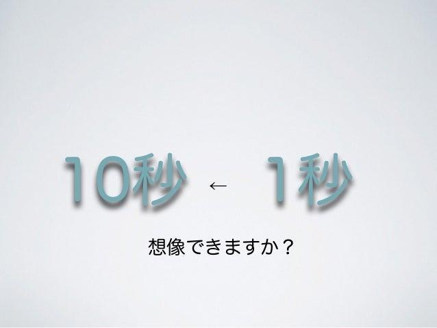 10秒 1秒← 想像できますか?