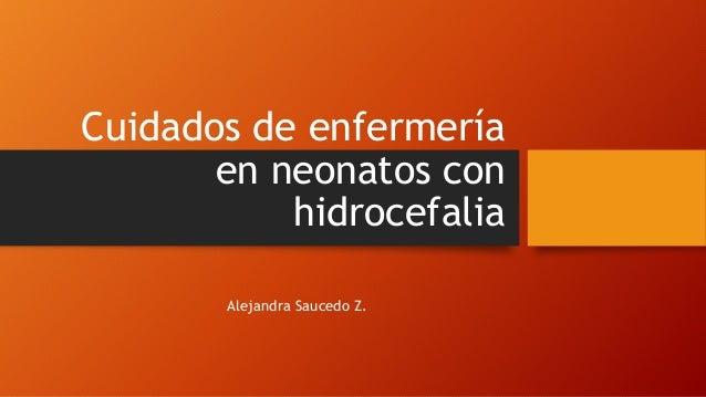 Cuidados de enfermería en neonatos con hidrocefalia Alejandra Saucedo Z.