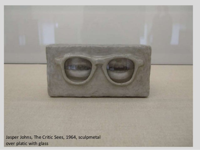 Jasper Johns, The Critic Sees, 1964, sculpmetal over platic with glass