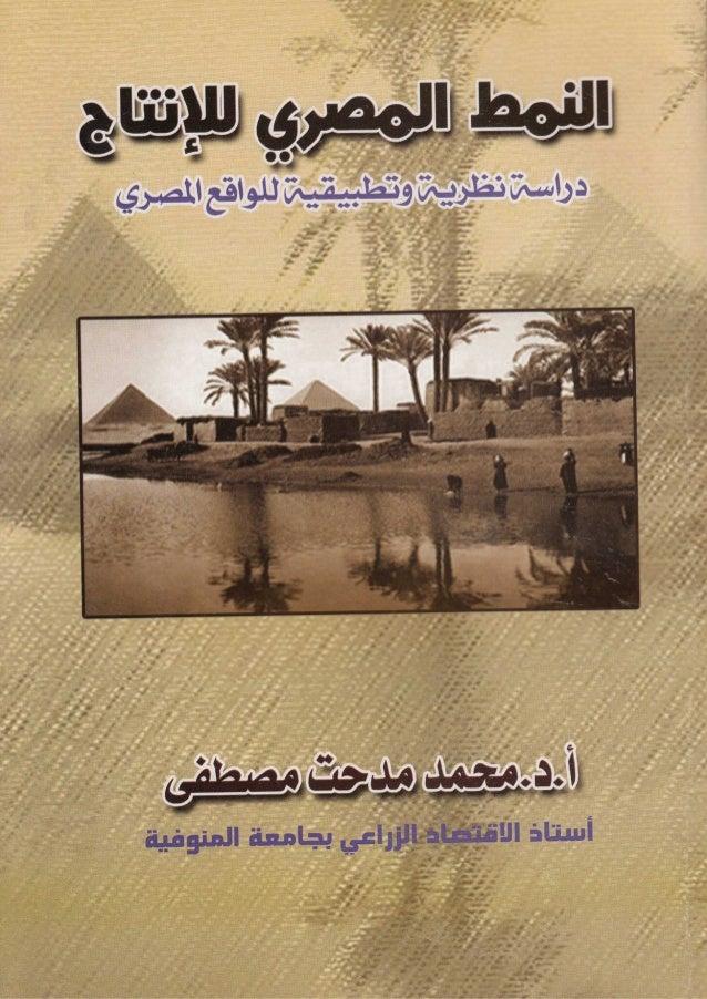 النمط المصري للإنتاج