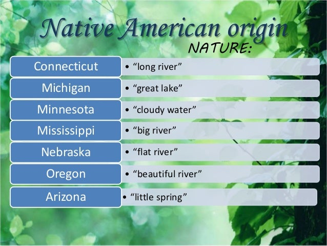 an overview of origins of us state nicknames The nickname of each state usa this nickname was applied in 1969 after one of the most famous historians in connecticut, named john fiske, claimed that the fundamental orders of 1638 and.