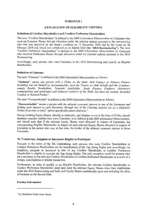 Уведомление о присоединении к продаже  Простых и Привилегированных акций АО «ForteBank»