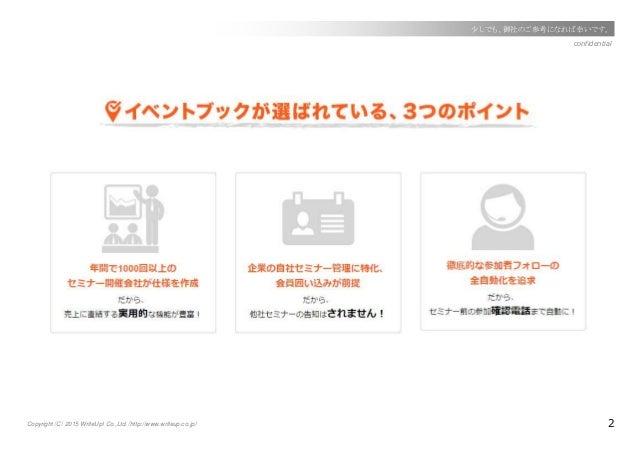 Copyright(C) 2015 WriteUp! Co.,Ltd.(http://www.writeup.co.jp) 2 confidential 少しでも、御社のご参考になれば幸いです。