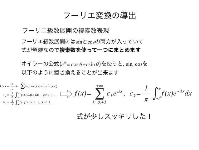 複素 フーリエ 級数 例題